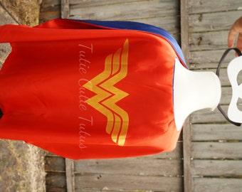 Wonder Girl Super Hero Mask and Cape
