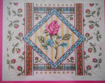"Artiste ""Rose Collage"" Cross Stitch Kit - New, Unopened"