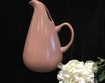 Russel Wright American Modern Pink / Coral Water Pitcher - Steubenville Pottery