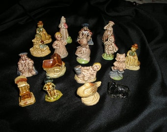 Vintage Miniatures. Made in England Child's Story Book Caracters/Figures.Lot of 17.Marked.Mint.