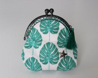 Retro purse green, Palm collection