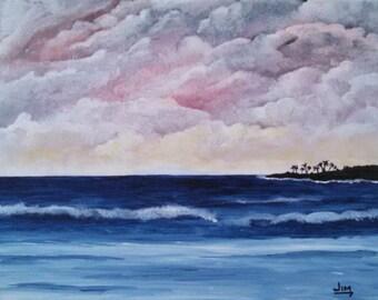 Ocean Beach Island Sunset Landscape