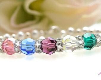 Custom Birthstone Bracelet Mother Bracelet Grandmother Bracelet Mom Jewelry Birthstone Jewelry Personalized Mothers Jewelry Gift for Her