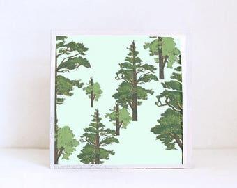 woodland nursery art- pine tree art print- forest decor- nursery woodland art- tree print- nursery forest -tree decor- redtilestudio