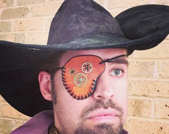 Steampunk Leather Eyepatch