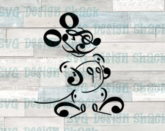 Music Mickey Mouse SVG, DXF, EPS, Studio 3, Png
