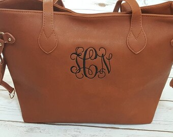 Monogram handbag , monogram purse, ladies handbag, personalized handbag, personalized purse, embroidered handbag, monogram faux leather tote