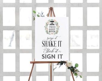 Photo Guest Book Sign Photo Guest Book Sign Photo Booth Sign Our Guest Book Wedding Sign Guestbook Sign Printable Sign Instant Download