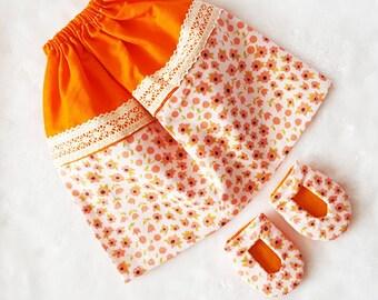 Sunkissed Daisy Muslimah Doll skirt