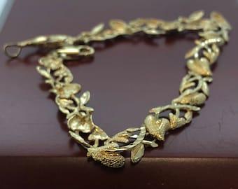 14K Yellow Gold Diamond Cut Bracelet