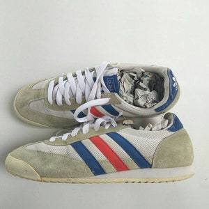 Adidas Vintage Sneaker Three Stripe Two Color Rare Shoes, Adults Adidas  Shoes