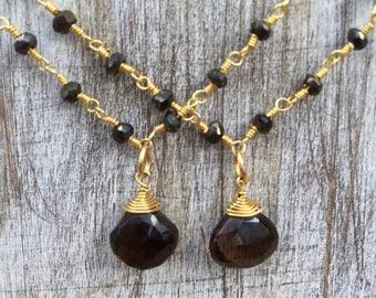 Rosario spinel necklace.