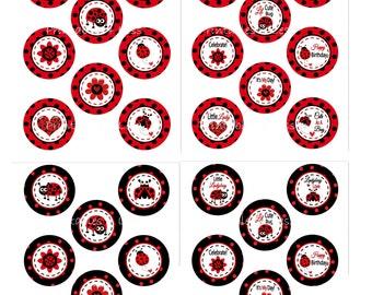 Ladybug Cupcake Topper Wrapper, Printable Ladybug Topper, Ladybug Birthday Decoration, Red Ladybug Theme, Ladybug Party - Printables 4 Less