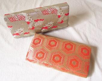 Vintage Japanese Kimono Bag Set of 2 / Clutch bag / Embroidery