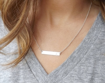 Bar Necklace,personalized, Personalized Bar, name Necklace,personalized jewelry,name Bar Necklace, Bridesmaid gift,custom necklace, necklace