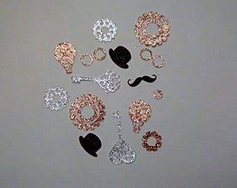 Steampunk Confetti | Glittery Confetti | Steampunk Table Scatter