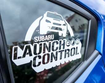 Launch Control Subaru WRX STI Rally Window Decal Sticker Vinyl Custom