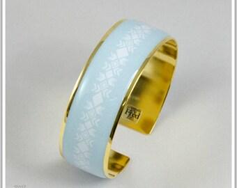 2 cm gold plated 24 k Maria blue Cuff Bracelet