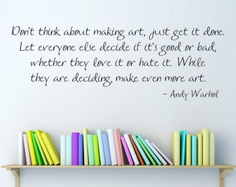 Andy Warhol Quote Decal - Handwritten Wall Decal Quote - Craft Room Wall Art - Large 2