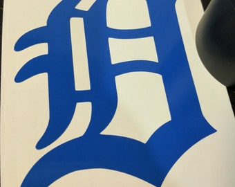 Detroit D Vinyl Decal (Old English D)