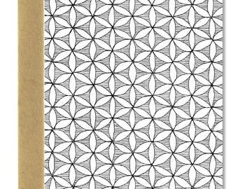 Poche Flower Pattern - A1 Card (Single or Set of 5)