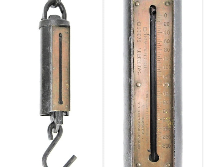 1903 Pelouze Steel King Ice Balance Scale 300 lbs