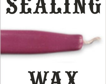 Dusty Rose traditional wax sticks with wicks - Scottish style breakable sealing wax - 10 pieces - 1/2 PRICE SALE
