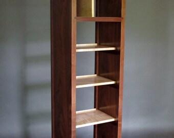 Narrow Bookcase: Tall Cabinet, Media Storage, Bookshelves, Room Divider   Mid Century