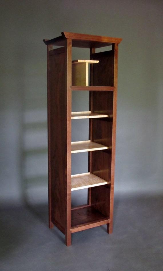 Narrow Bookcase Tall Cabinet Media Storage Bookshelves