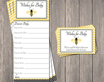 Bumble Bee Wishes for Baby Game - Printable | Instant Download | Mom To Bee