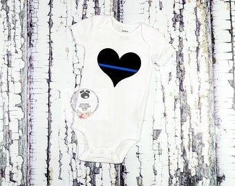Thin Blue Line Baby Bodysuit- my hero