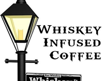 Whiskey Infused Coffee 1.2 pound - small batch roasted Tennessee Whisky Infused whole coffee beans- Great Gift for Dad, Holidays