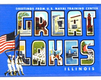 Greetings from Great Lakes Illinois Fridge Magnet