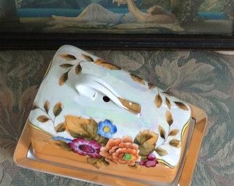 Art Deco, 1925 Noritake Lusterware Cheese Keeper, Mint!