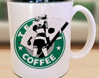 Temari of the Sand Ninja Anime Nerd Coffee Mug Gift Parody Idea