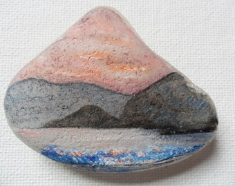 Dingle peninsula Ireland - Acrylic miniature painting on English sea glass
