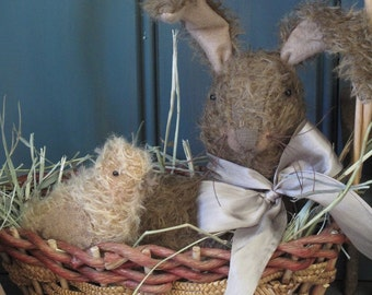 Easter Greetings  Bunny and Chick E-PATTERN by cheswickcompany