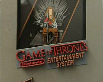 Game of thrones  nes cartridge box art