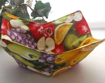 Microwave Bowl Cozy Pot Holder Kitchen Utensil Table Protector Kitchen Accessory Finger Saver Unique Gift Kitchen Housewares Cotton Fabric