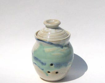 Garlic Keeper Storage Jar - Rio Grande Glaze