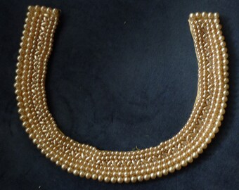 Cream Colored Pearl Necklace Collar 1950s Vintage Jewelry