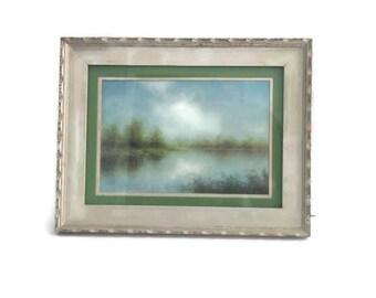 Water Landscape Drawing, Pastel Landscape Drawing, Landscape in Pastels
