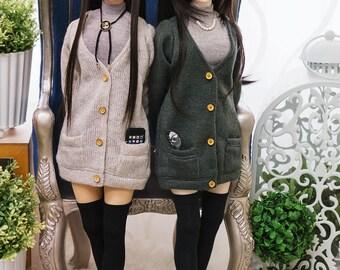 SD16/DD(M/Lbust) - Long Knit Cardigan Set