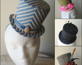 Custom Mini Top Hat - Two Sizes Available - Made To Order