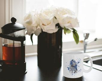 Watercolour Star Wars R2-D2 Mug (11oz Standard & 17oz Latte Mugs Available)