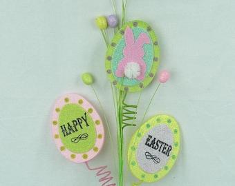"25"" ""Happy Easter""-Egg Shaped Spray/Wreath Supplies/Easter Decor/61896EAS"
