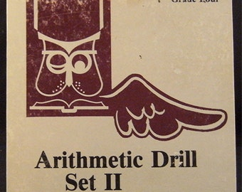 "Notebook Notables 1950's ""Arithmetic Drill"" Box Notebook, Sketchbook"