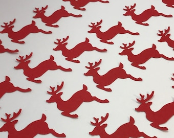 Reindeer Table Confetti Red Christmas Decorations Festive