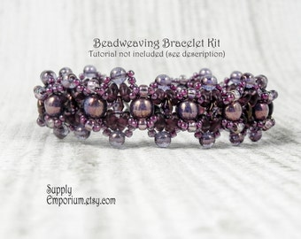 Bronzed Bombshell Beadweaving Bracelet Bead Pack BB13 - Tutorial by MyBeads4You Sold Separately - Beaded Bracelet Bead Pack BB-13