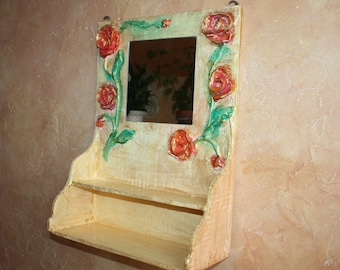 Rack, Cabinet with a mirror